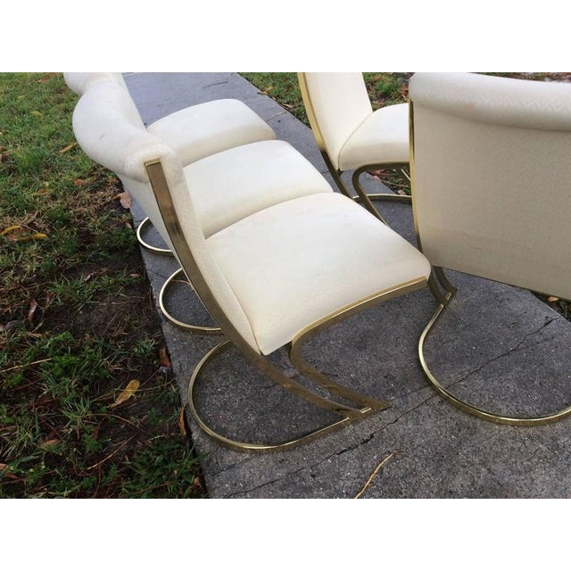 Gold Pierre Cardin Vintage Brass Dining Chairs - Set of 6 For Sale - Image 8 of 12