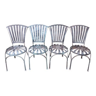 Vintage Iron Balloon Chairs - Set of 4