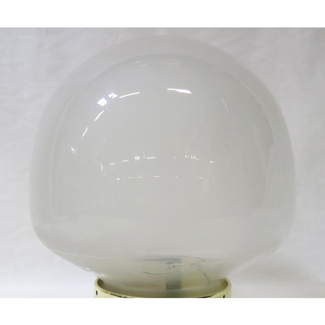 Early 20th Century Small Vintage Gumdrop Ceiling Glass Globe Pendant For Sale - Image 5 of 6