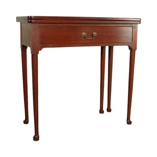 Marquart Reproductions Custom Mahogany Queen Anne Game Table For Sale