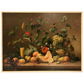Oil on Canvas by Corbe Still Life Painting