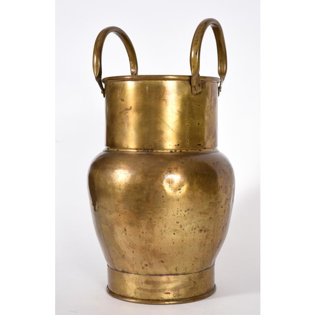 Mid-20th Century Indoor / Outdoor Brass Umbrella Stand For Sale - Image 10 of 10
