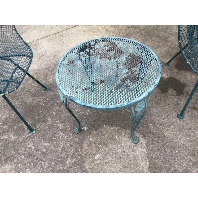 Mid 20th Century Sculptura Chair Table Russell Woodard Patio Set - 3 Pieces Last Call For Sale - Image 5 of 10