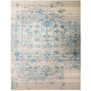 """Contemporary Genuine Hand Knotted Luxury Rug - 7'10""""x 10'2"""" For Sale"""