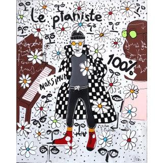 """""""Le Pianiste"""" Large Original Artwork by Soren Grau For Sale"""