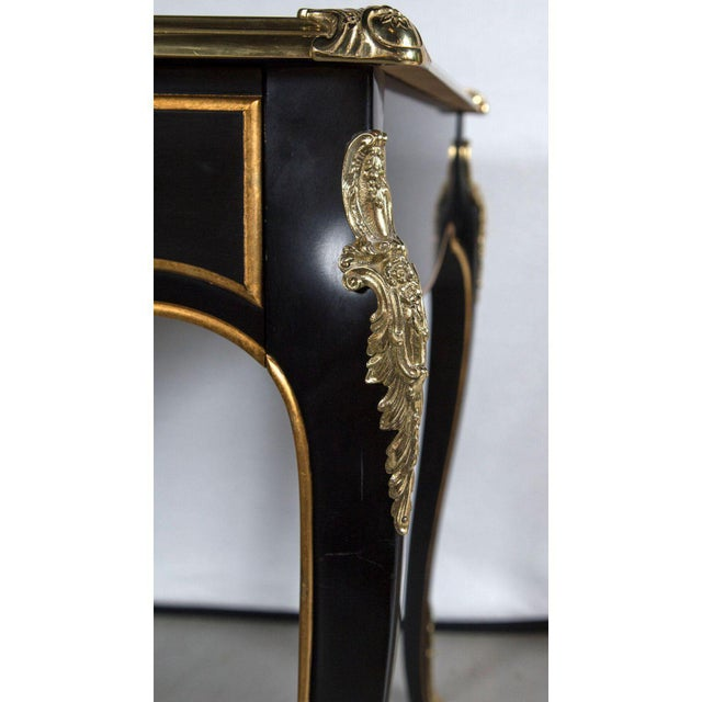 Gold Baker Collector's Edition Louis XV Bureau Plat / Writing Desk For Sale - Image 8 of 11
