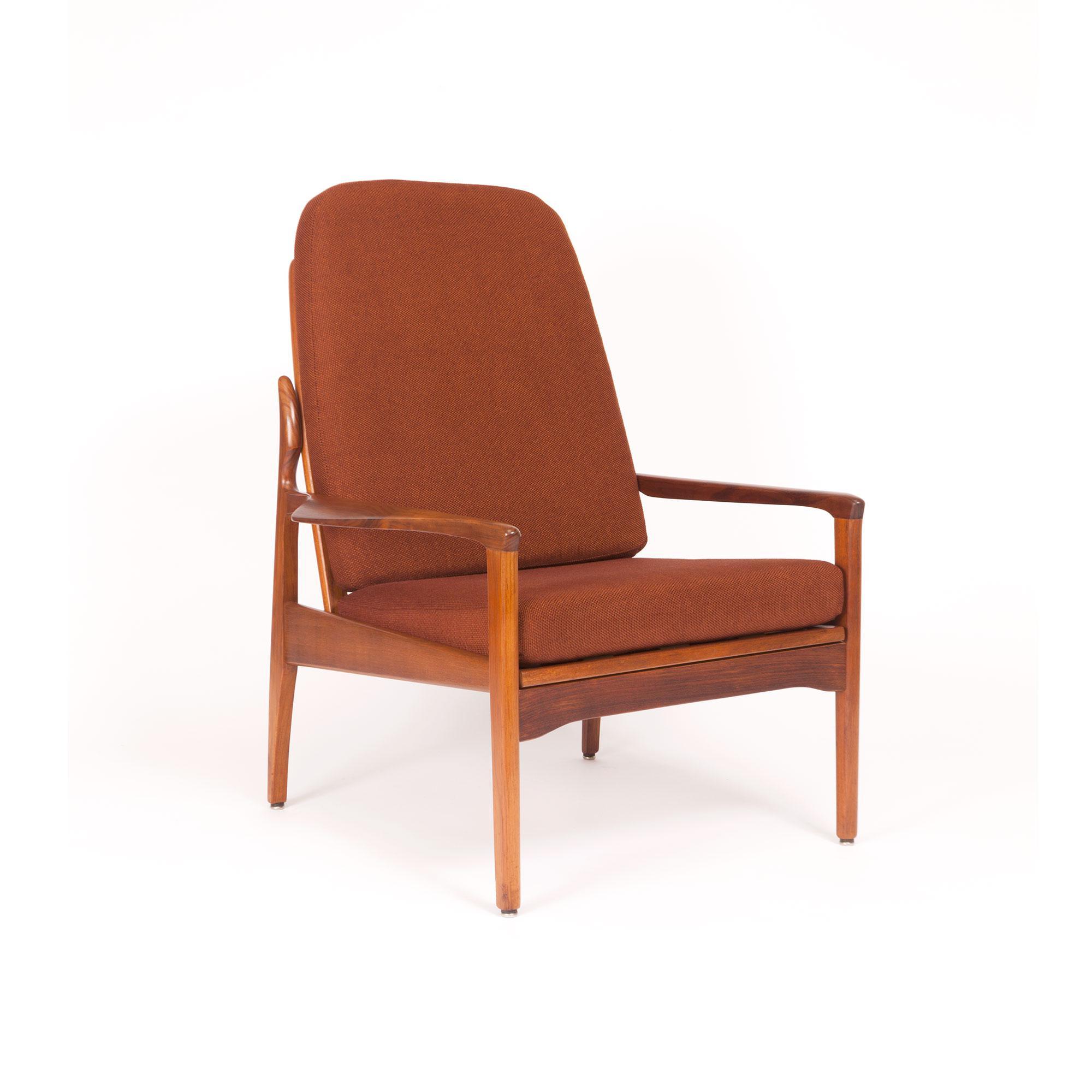 Vintage Teak Lounge Chair By Fler Narvik Highback Designed By Fred Lowen    Image 2 Of