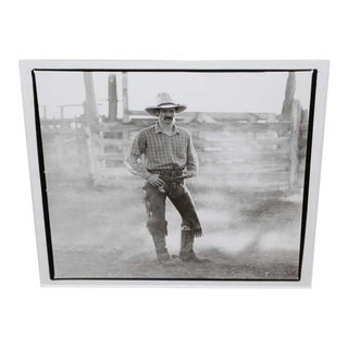 Silver Gelatin Cowboy Photograph For Sale