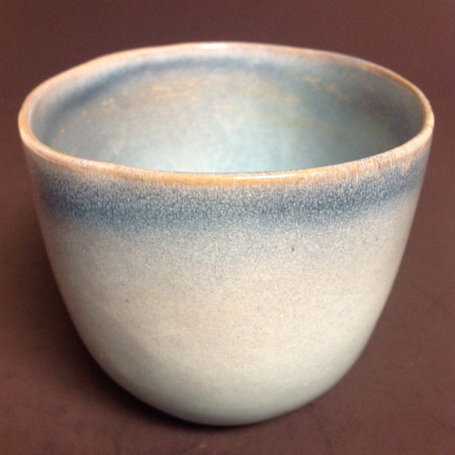 Rare Vintage Shape #37 Blue Glidden Pottery Bowl For Sale - Image 5 of 6