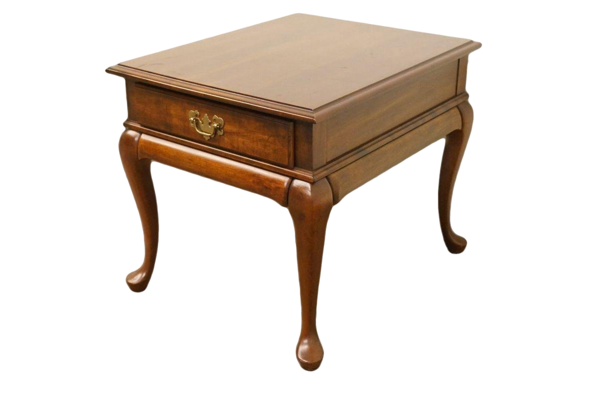 Late 20th Century Vintage Cresent Furniture Queen Anne Style Side Table