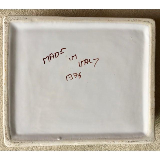 "Italian Vintage Italian Faience Hand-Painted Box-6""x 5"" For Sale - Image 3 of 7"