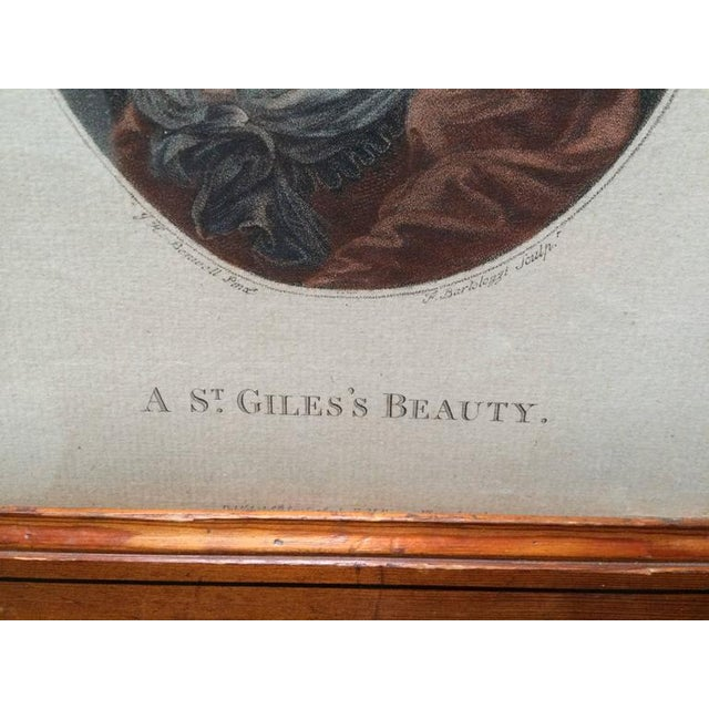 """18th Century Color Engraving """"A St. Giles's Beauty"""" For Sale In New York - Image 6 of 8"""