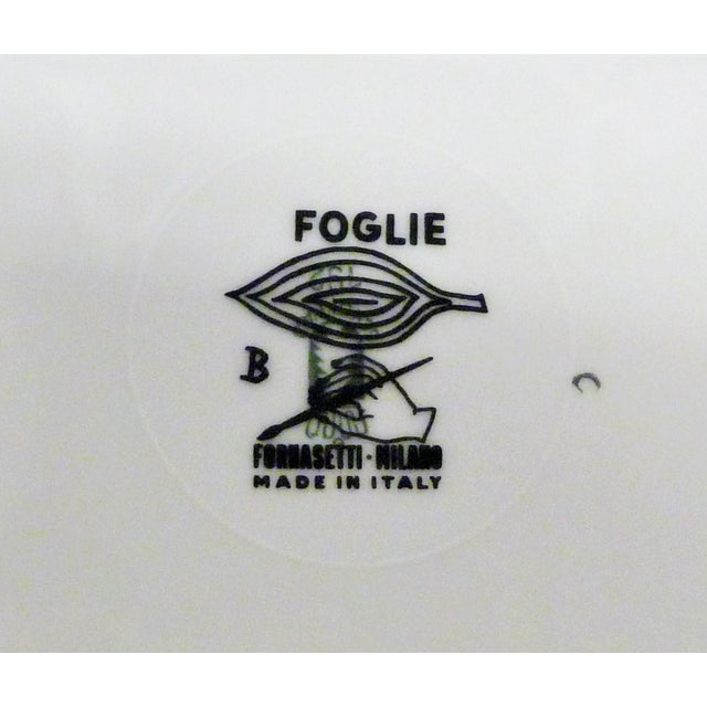 Black 1950s Mid-Century Fornasetti Italy Black and White Foliage or Foglie Plates - Set of 3 For Sale - Image 8 of 13