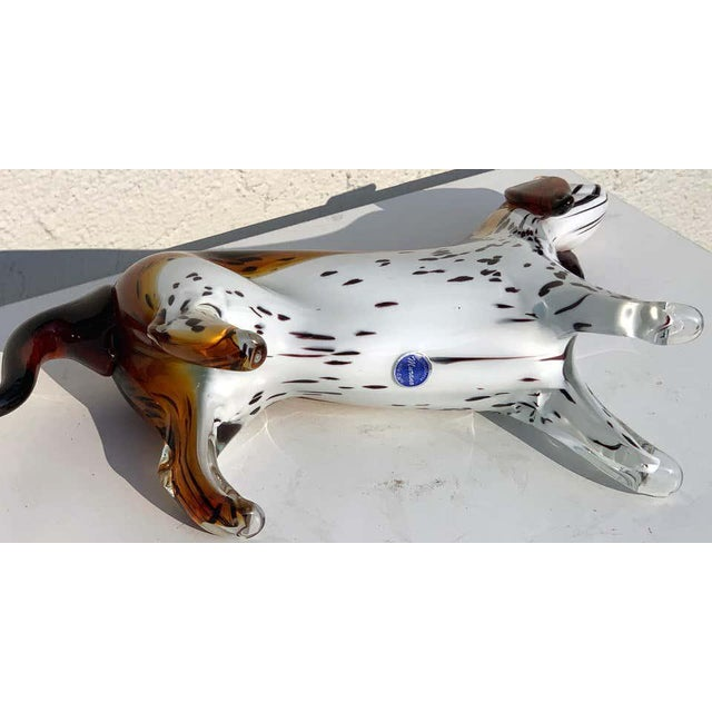 Murano Glass Figure of Spotted Dog For Sale - Image 4 of 12