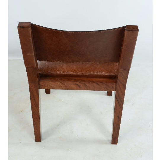 Hudson Furniture Modern Leather Chairs - Set of 4 - Image 5 of 6