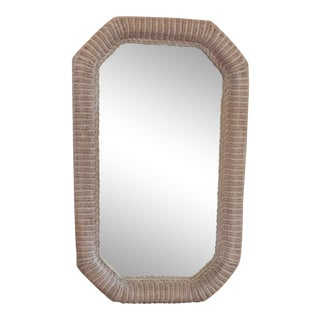 Robb and Stucky Wicker Mirror For Sale