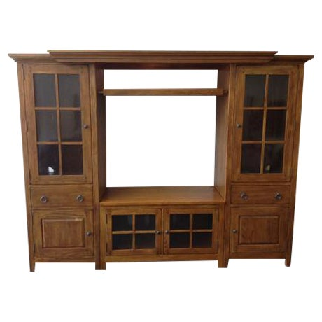 Solid Wood Entertainment Center - Image 1 of 7