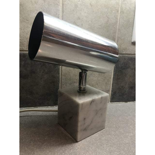 1960s 1960s Vintage Koch & Lowy Carrera Marble Base Table Lamp For Sale - Image 5 of 10