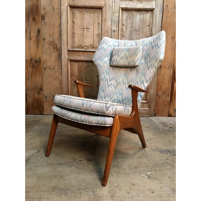 Vintage Mid Century Kurt Ostervig High Back Lounge Chair For Sale - Image 13 of 13