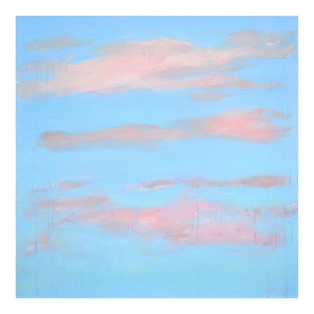 "Modern ""Cloud Study"" Contemporary Painting by Stephen Remick For Sale"