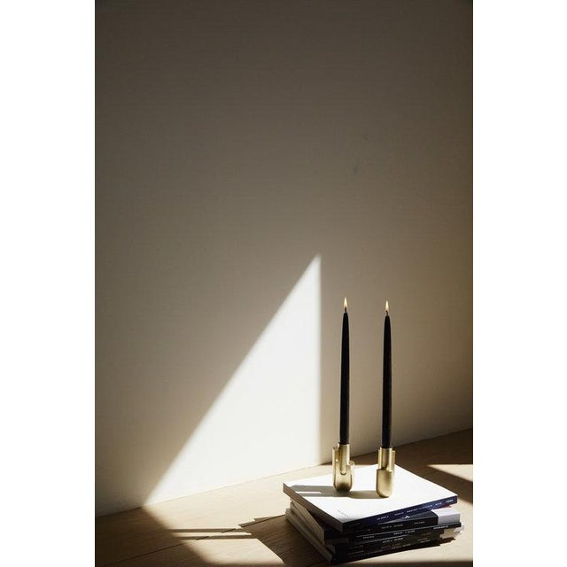 Modern Farrah Sit Trakata Candlesticks - Pair For Sale - Image 3 of 4