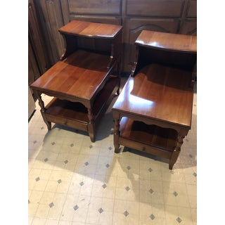 Cherry Pennsylvania House Step Down End Tables - a Pair Preview