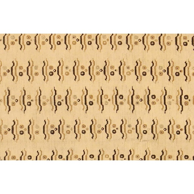 """Transitional Kafkaz Peshawar Marinda Tan & Tan Wool Rug - 8'11"""" x 14'10"""" For Sale - Image 3 of 7"""