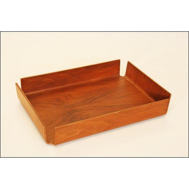 Danish Modern Teak Desk Tray - Image 6 of 11