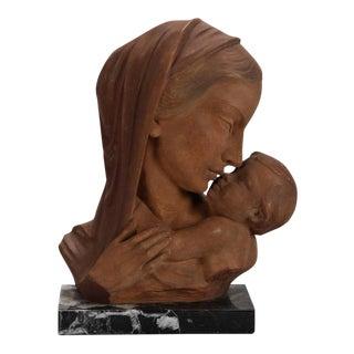 Johanne Dommisse Madonna and Child Terra Cotta Bust