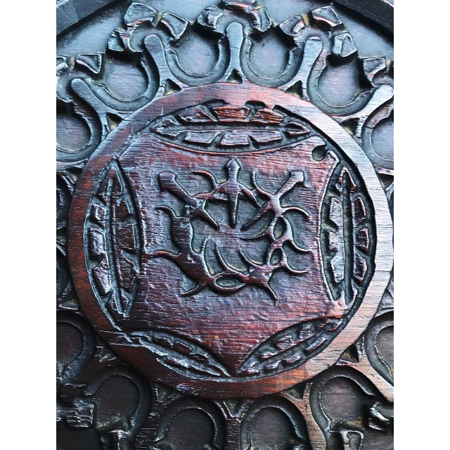 Antique Tudor Revival English Manor House Carved Hall Chair For Sale In West Palm - Image 6 of 13