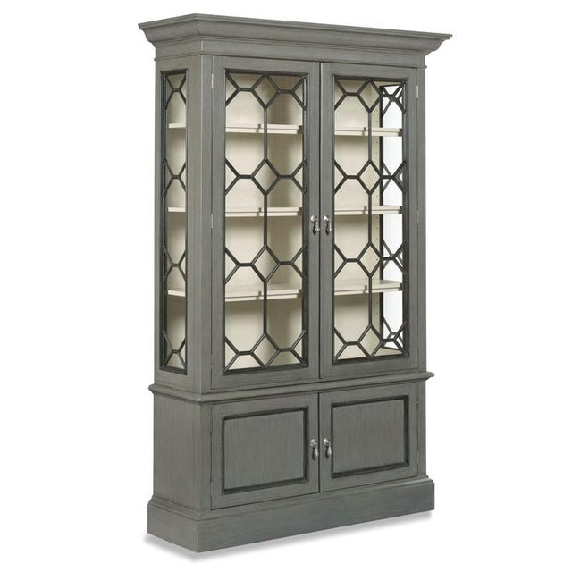 Traditional Modern Vashon Display Cabinet For Sale - Image 3 of 3
