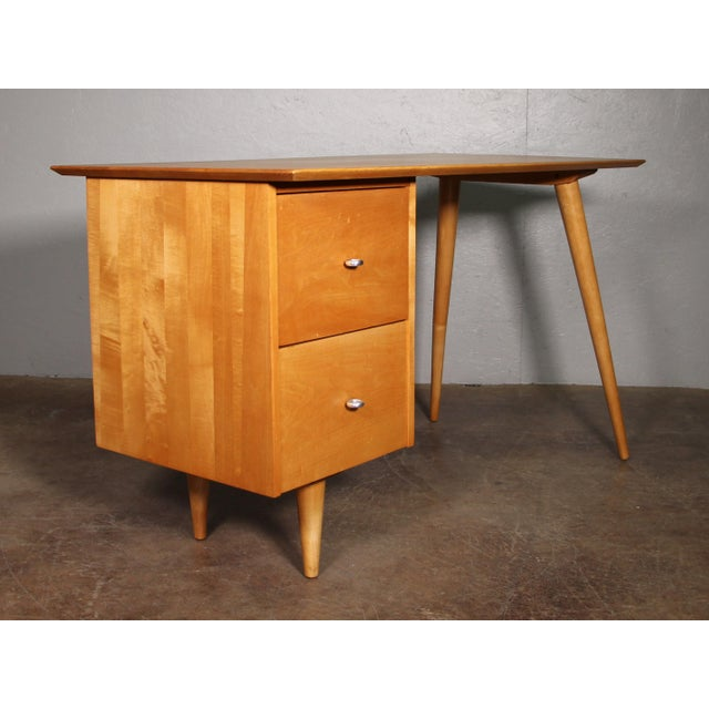Paul McCobb 1960s Mid-Century Modern Paul McCobb Planner Writing Desk For Sale - Image 4 of 11