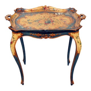 Antique Venetian Tray Table For Sale