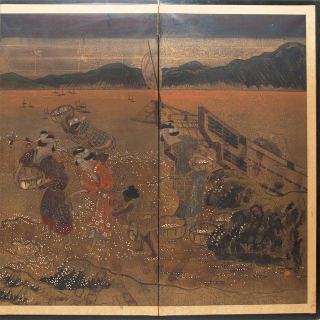 Asian 1880 Japanese Byobu Screen For Sale - Image 3 of 12