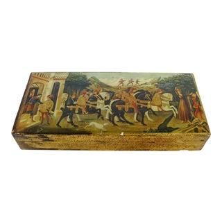 Florentine Wood Decoupage Box For Sale