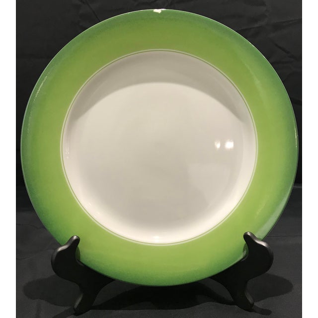 Lynn Chase Green and White Chargers - Set of 6 For Sale - Image 10 of 11