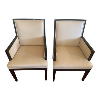 A. Rudin No. 445 Arm Chairs for Holly Hunt - a Pair For Sale