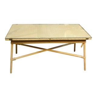 Mid-20th Century Rectangular Coffee Table by Lloyd Loom For Sale