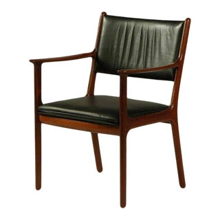 1950s Ole Wanscher PJ 412 Mahogany Armchair For Sale