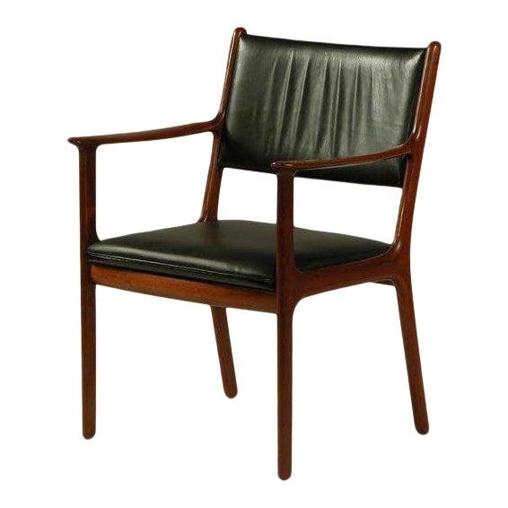 1950s Ole Wanscher PJ 412 Mahogany Armchair For Sale