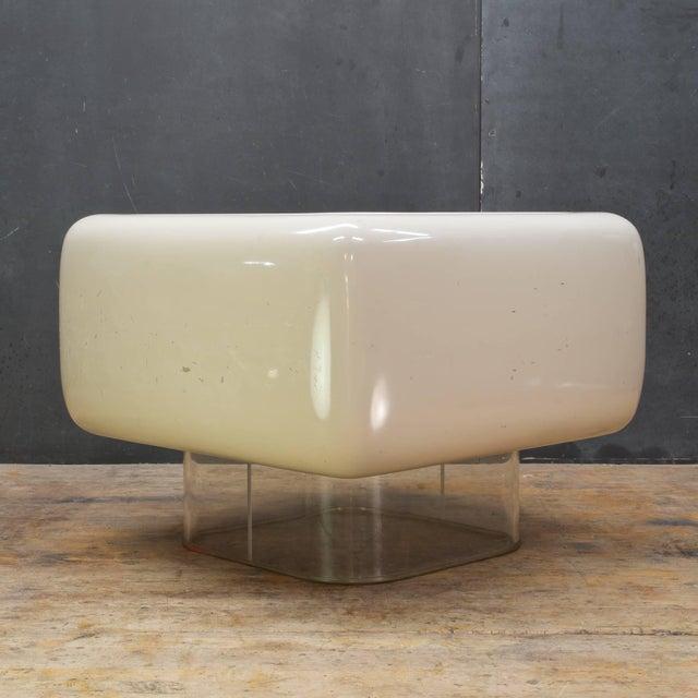 Mid-Century Modern Levitating Fiberglass Mushroom Table William Andrus Midcentury as Wendell Castle For Sale - Image 3 of 8