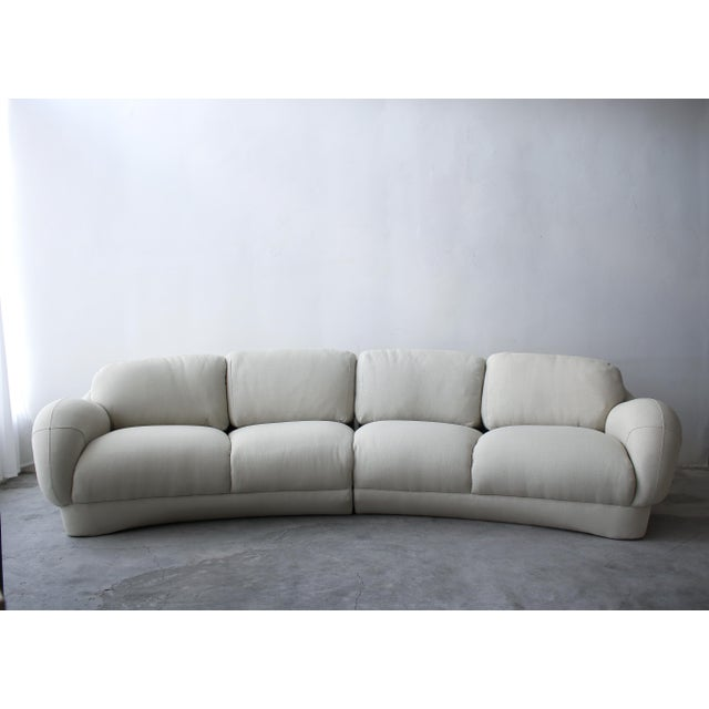 Postmodern 2 Piece Curved Post Modern Sofa by Preview Furniture For Sale - Image 3 of 9