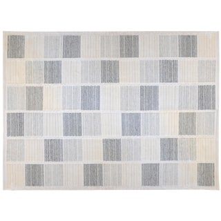 Stark Studio Rugs Contemporary Flatweave 52% Cotton /33% Bamboo Silk/15% Wool Rug - 9′ × 12′ For Sale
