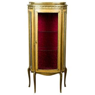 Louis XV-Stylized Showcase, circa 1950 For Sale