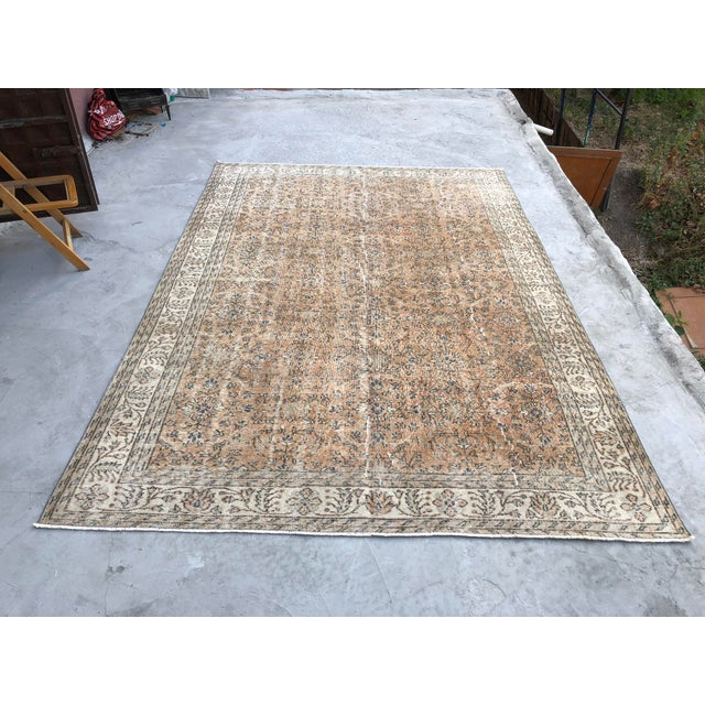 1960s Turkish Oversize Handmade Carpet For Sale - Image 10 of 10