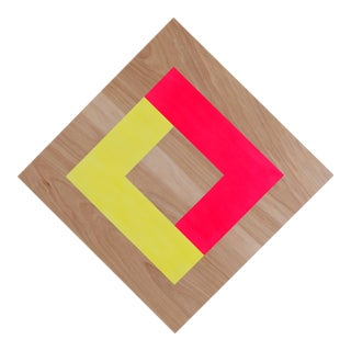 Contemporary Relief Wooden Wall Sculpture For Sale