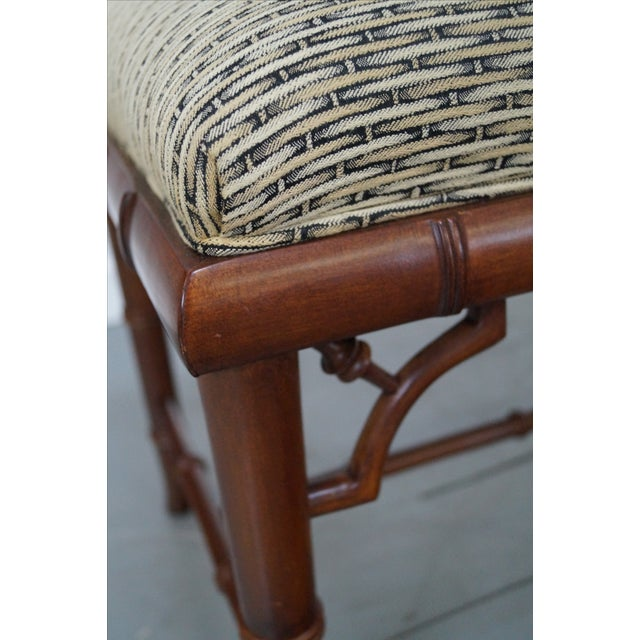 Councill Craftsman Faux Bamboo Ottoman - Image 7 of 10