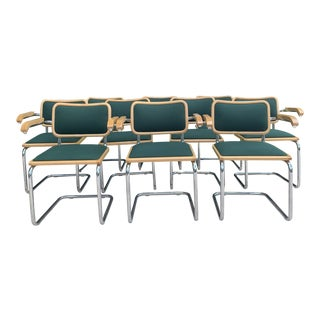 Marcel Breuer Cesca Style Chairs - Set of 10 For Sale