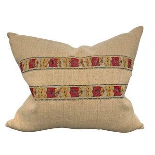 19th Century Belgian Crest Trim Pillow For Sale