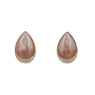 1980s Yves Saint Laurent Mocha Lucite Earrings For Sale